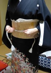 作り帯の着付け07