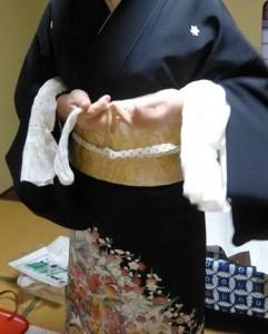 作り帯の着付け08