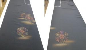 羽織から名古屋帯 (お太鼓の柄と胴の柄)