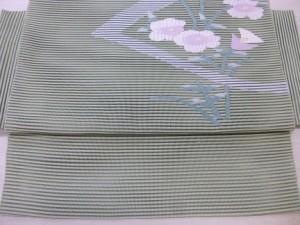 絽八寸帯 (かがり帯・袋名古屋帯)
