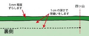 伏せ縫い1-1