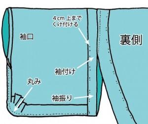 浴衣の袖振り01